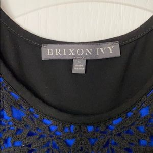 Brixon Ivy Tops - Blue and black sleeveless Brixon Ivy shirt